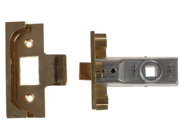 M999 Rebate Tubular Latch 76mm 3in Polished Brass Finish