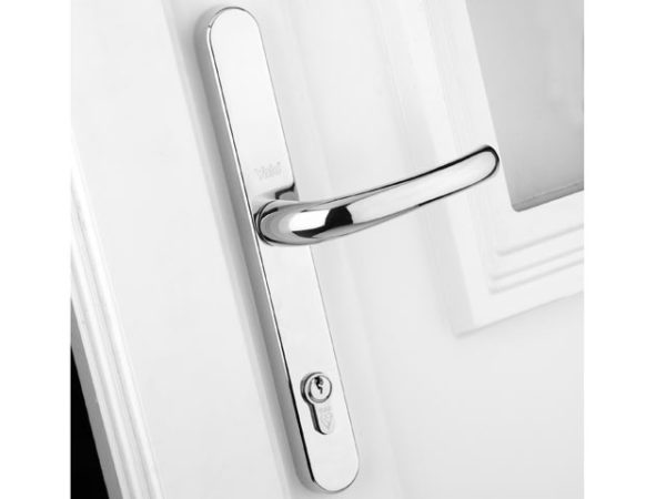 Retro Door Handle PVCu Polished PVD Gold Finish