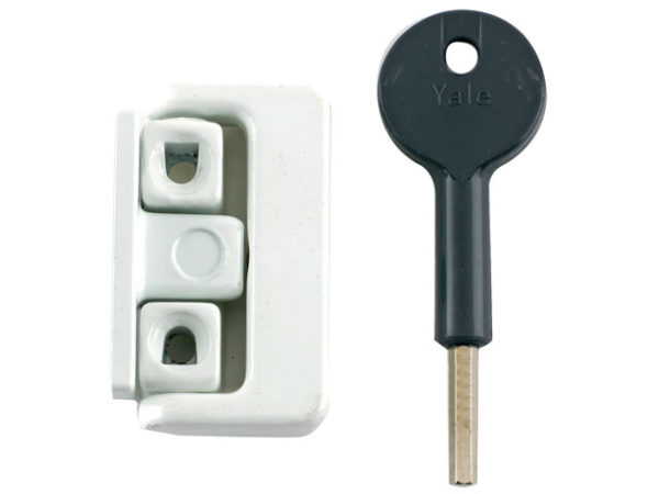 8K101 Window Latch White Finish Visi