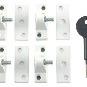 8K118 Economy Window Lock Electro Brass Finish Pack of 4 Visi