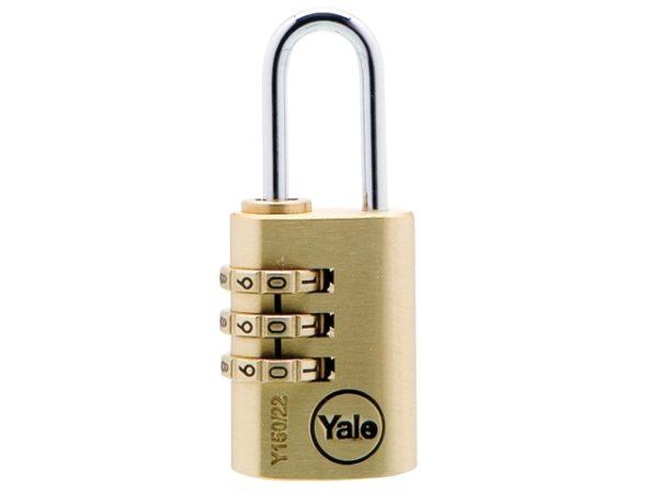 Y150 22mm Brass Combination Padlock