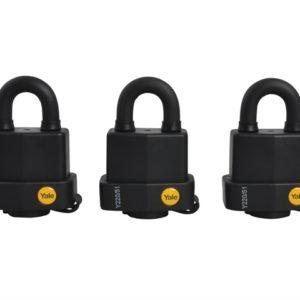 Y220 51mm Weatherproof Padlock (3 Pack)