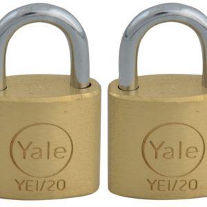 YE1 Brass Padlock 20mm (2 Pack)