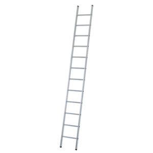 Industrial Single Aluminium Ladder with Stabiliser Bar 4.73m 16 Rungs