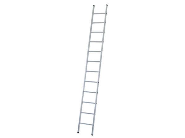 Industrial Single Aluminium Ladder with Stabiliser Bar 3.61m 12 Rungs