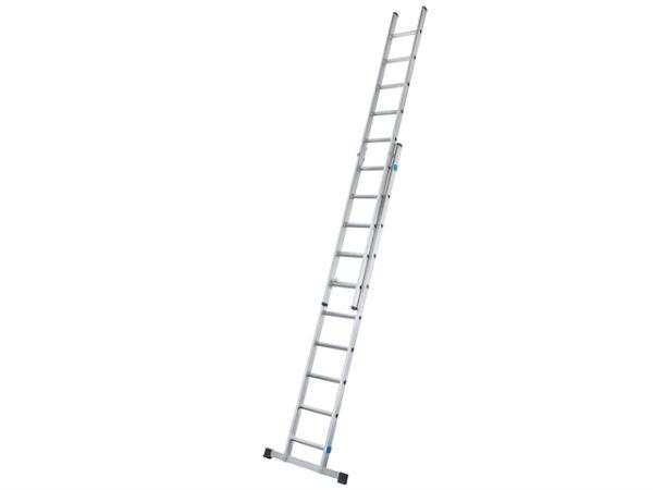 Double Extension Ladder with Stabiliser Bar 2-Part D-Rungs 2 x 12