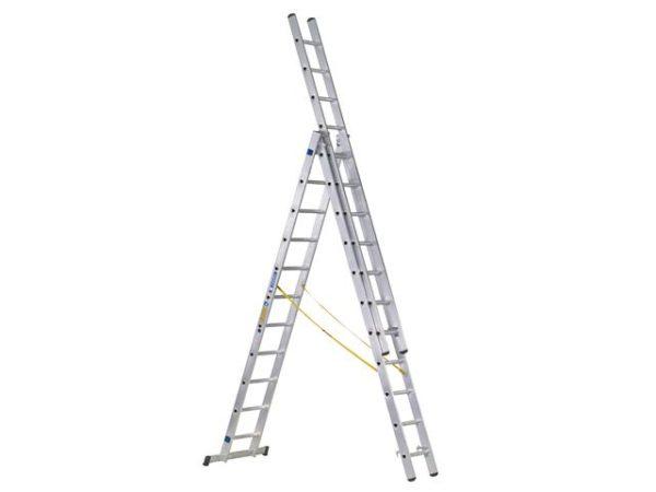 D-Rung Combination Ladder 3-Part 3 x 10 Rungs