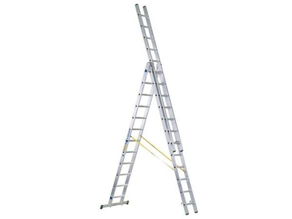 D-Rung Combination Ladder 3-Part 3 x 12 Rungs