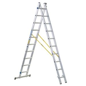 D-Rung Combination Ladder 2-Part 2 x 8 Rungs