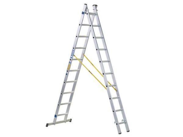 D-Rung Combination Ladder 2-Part 2 x 8 Rungs