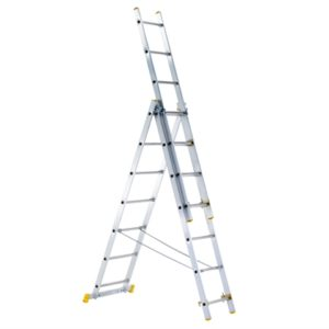 3-Part Eurostar Combination Ladder 3 x 9 Rungs