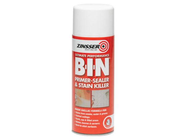 B.I.N Primer & Sealer Stain Killer Aerosol 400ml