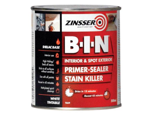 B.I.N Primer & Sealer Stain Killer Paint 500ml
