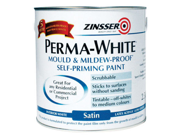 Perma-White Interior Paint Satin 2.5 litre
