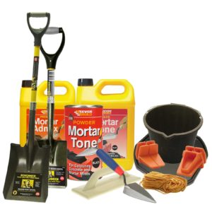 Cement and mortar mixing tool kit