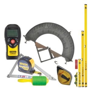 Setting out and measuring tool kit