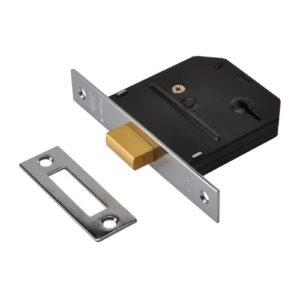 ES-DL Essentials 3 Lever Mortice Deadlock Chrome 65mm 2.5in Visi