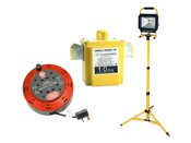 Cable Reels, Site Lights and Transformers