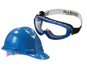 Safety Hat and Goggles