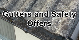 Gutter clearing and ladder safety offers