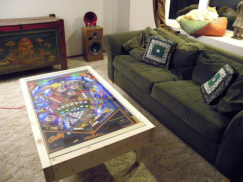 Pinball Coffee Table DIY Coffee Tables