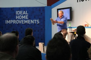 How to Skim Plaster presentation at the Ideal Home Show by Mike Edwards