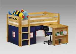 Usefull storage space in a comfortable bed