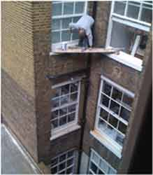 The money saved in scaffolding should pay for the ambulance.