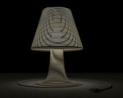 Coiled cord lamp design from Dornob.com