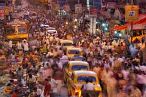 crowded street in india 7 Billion People by the end of the month