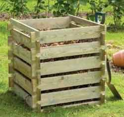 Wooden Composter Council charges for garden rubbish
