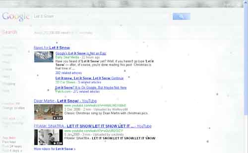 Let it Snow from Google