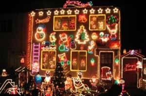 Over the top outdoor christmas lights