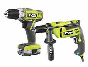 Ryobi drill driver and hammer drill from Screwfix