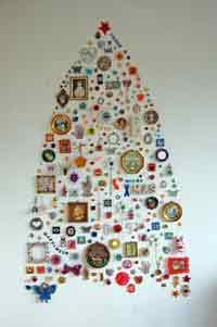 Wall collection christmas tree