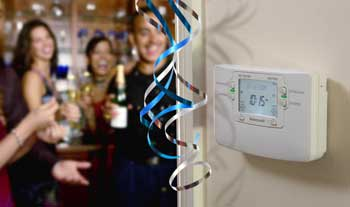 Push the party button on your thermostat
