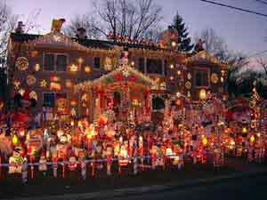 Over the top Christmas Lights