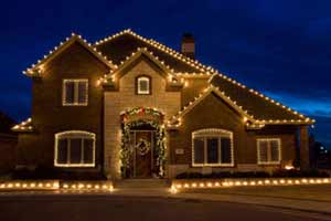 white outdoor christmas lights