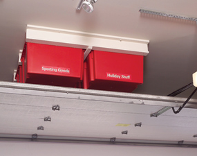 Garage ceiling storage solution