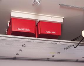 Garage ceiling storage solution