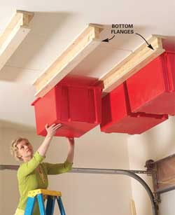 Overhead garage storage solution