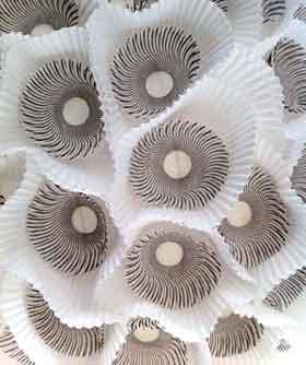 Detail of paper orb lights