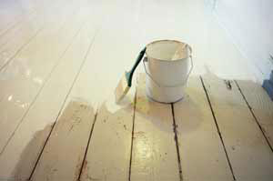 Painting a wooden floor