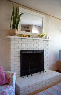 painted brick fireplace Got a grotty fireplace?