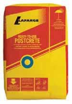 Bag of postcrete