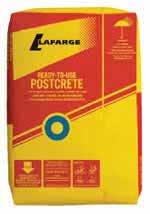 bag of postcrete Time saving concrete from Lafarge