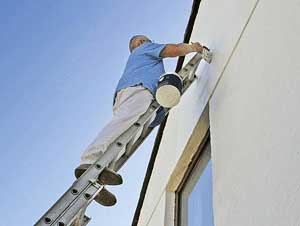 Painting the exterior of a house