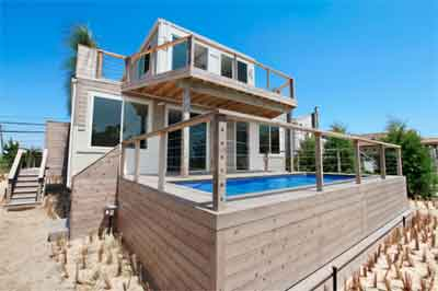 Beach Box house made from recycled shipping containers