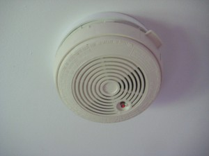 Smoke alarm 1 300x225 How to change a battery in a mains powered smoke alarm