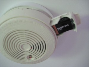 Smoke alarm 3 300x225 How to change a battery in a mains powered smoke alarm
